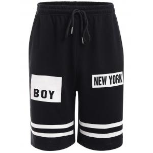 BoyNewYork Stripes Pattern Lace-Up Shorts