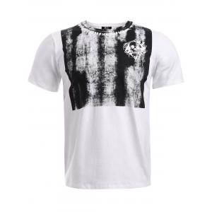 BoyNewYork Skulls Stripes Printed T-Shirt