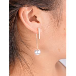 Stylish Faux Pearl Bar Earrings -