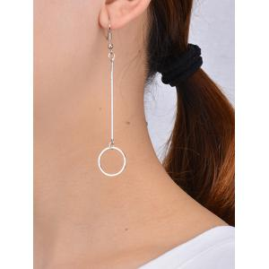 Alloy Circle Long Drop Earrings -