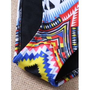 High Neck Aztec Print Bikini -