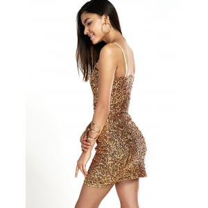 Shiny Party Queen Sequins Embellished Mini Dress -