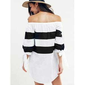Off-The-Shouder Striped Blouse -
