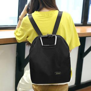 Leisure Zipper and Black Design Backpack For Women - BLACK