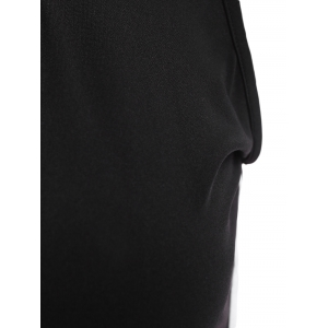 Sexy Hooded Black Low-Cut Dress For Women -