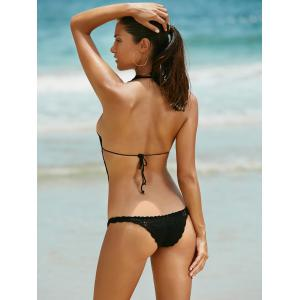 Crochet Black One-Piece Swimwear -