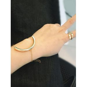 Punk U Shape Elbow Bracelet - GOLDEN