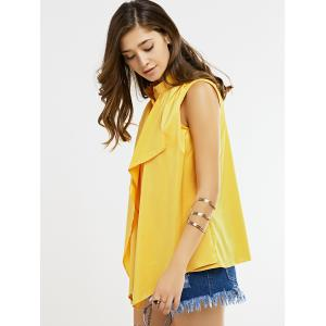 Sleeveless Ruffle Blouse -