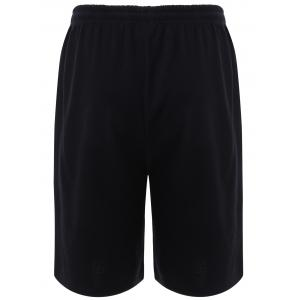 BoyNewYork Stripes Pattern Lace-Up Shorts - BLACK L