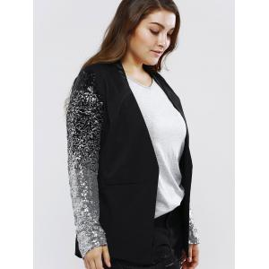 Plus Size Chic Sequined Sleeve Blazer -