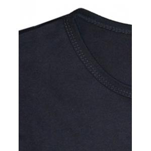 Color Splicing Round Neck Long Sleeve T-Shirt For Men - BLACK/WHITE/RED 2XL
