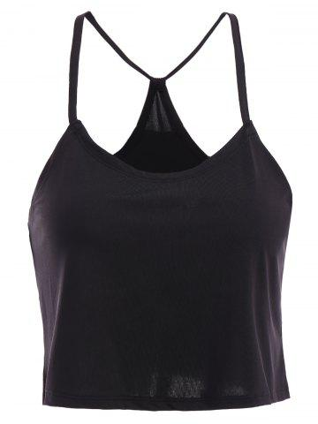 Shop Casual Spaghetti Strap Black Tank Top For Women