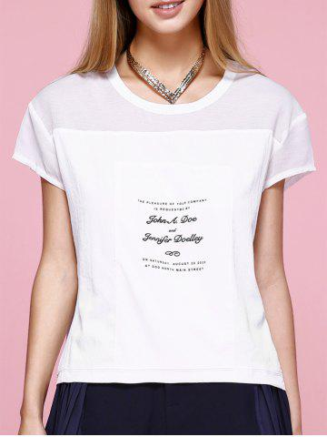 Affordable Casual Round Neck Letter T-Shirt For Women