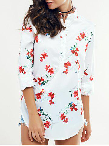 Best Chic High Low Hem Printed Blouse For Women