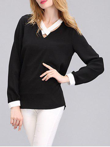 Buy Criss Cross Front Two Tone Blouse