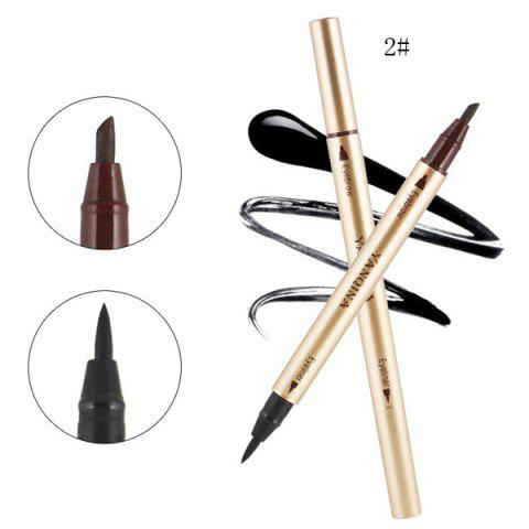 Fancy Stylish Double-End Smudge-Proof Waterproof Liquid Eyeliner Pencil Eyebrow Pencil