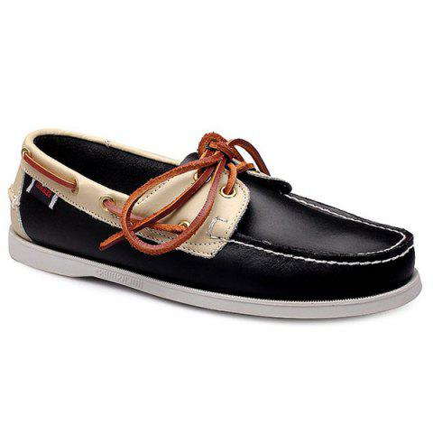 Trendy Tie Up and Colour Splicing Design Chaussures Casual pour les hommes