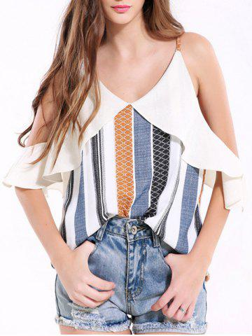 Outfit Spaghetti Strap Hollow Out Printed Tank Top
