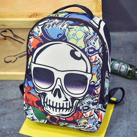 Store Trendy Color Splicing and Skull Pattern Design Backpack For Men - COLORMIX  Mobile