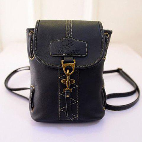 Sale Stylish Metal and Stitching Design Backpack For Women