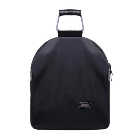 Affordable Leisure Zipper and Black Design Backpack For Women BLACK