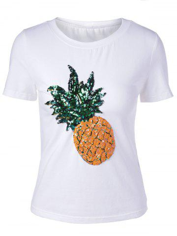 Outfit Pineapple Printed Short Sleeve T-Shirt