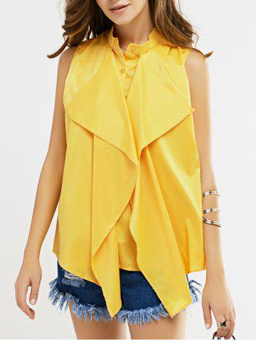 Discount Sleeveless Ruffle Blouse