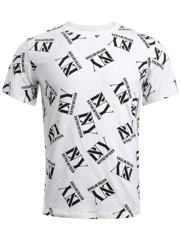 Discount BoyNewYork Simple T-Shirt - S WHITE Mobile