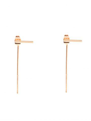 Trendy Alloy Minimalist Design Earrings GOLDEN