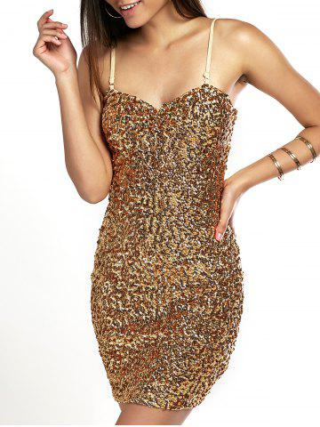 Shiny Party Queen Sequins Embellished Mini Dress