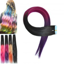 Fashion Three Color Ombre Traceless Long Straight Human Hair Extension For Women - OMBRE 1211#