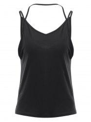 Brief Spaghetti Strap Open Back Tank Top For Women