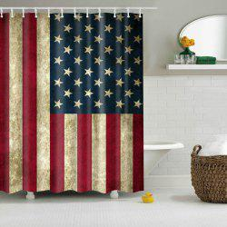 Mouldproof Waterproof Patriotic American Flag Shower Curtain - COLORMIX