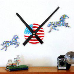 DIY 30CM Pointer Digital American Flag Design Wall Sticker Clock -