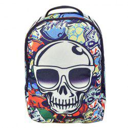 Trendy Color Splicing and Skull Pattern Design Backpack For Men - COLORMIX