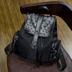 Trendy Black Colour and Splicing Design Backpack For Women
