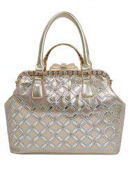 Chic Rhinestone and Bow Design Tote Bag For Women -