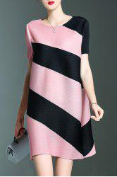 Short Stripe A Line Dress