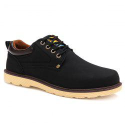 Fashionable Color Splicing and Tie Up Design Casual Shoes For Men -