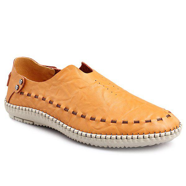 New Simple Style Stitching and Solid Colour Design Casual Shoes For Men