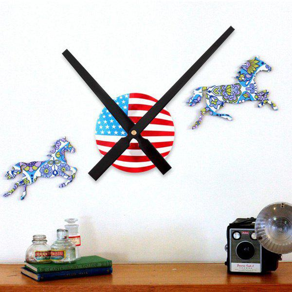 Online DIY 30CM Pointer Digital American Flag Design Wall Sticker Clock