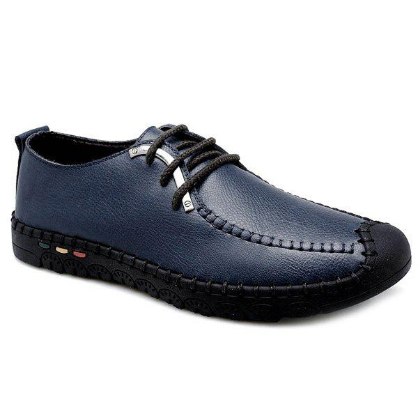 Affordable Vintage Stitching and Lace-Up Design Casual Shoes For Men