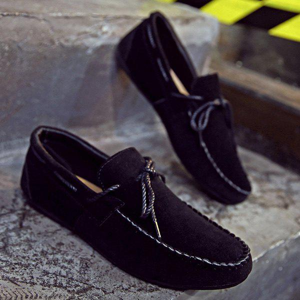 Online Concise Suede and Solid Color Design Casual Shoes For Men