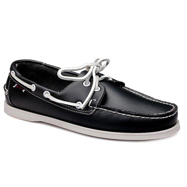 Discount Stylish Tie Up and Stitching Design Casual Shoes For Men