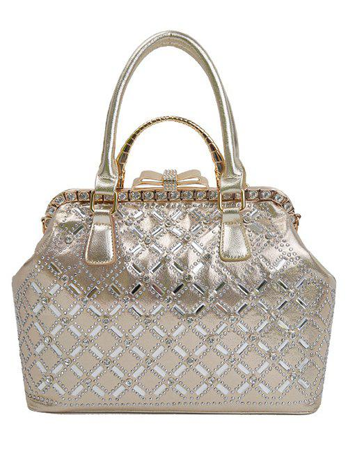 Buy Chic Rhinestone and Bow Design Tote Bag For Women