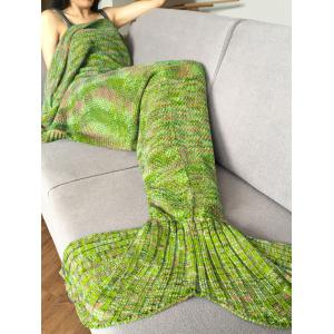 Fashion Crochet Knitted Super Soft Mermaid Tail Shape Blanket For Adult - Apple Green