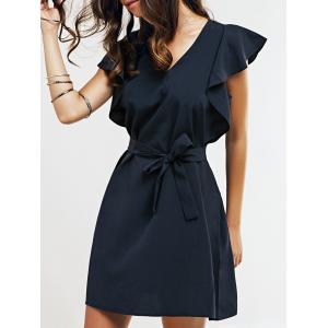 Cap Butterfly Sleeve A-Line Dress