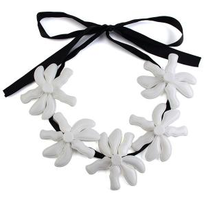 Ribbon Blossom Statement Necklace