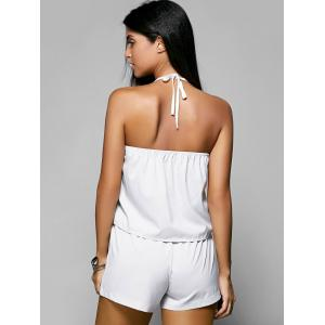 Halter Backless Top and Drawstring Loose Shorts Women's  Twinset -