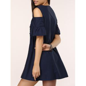 Butterfly Embroidered Cold Shoulder Dress -